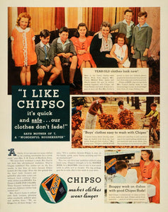 1935 Ad Chipso Laundry Detergent Dish Soap Procter - ORIGINAL ADVERTISING MCC5