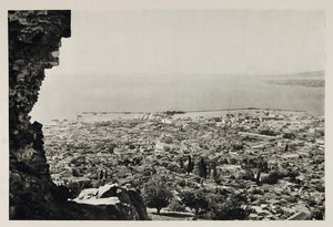 1937 Panorama Izmir Smyrna Harbor Turkey Photogravure - ORIGINAL MD1