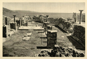 1937 Ruins Byzantine Church Kos Island Photogravure - ORIGINAL PHOTOGRAVURE MD2