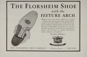 1929 Ad Florsheim Shoe Company Chicago Feeture Arch - ORIGINAL ADVERTISING MED2