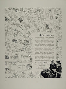 1938 Ad Postage Meter Metered Mail Postmarks Slogans - ORIGINAL ADVERTISING MIX7