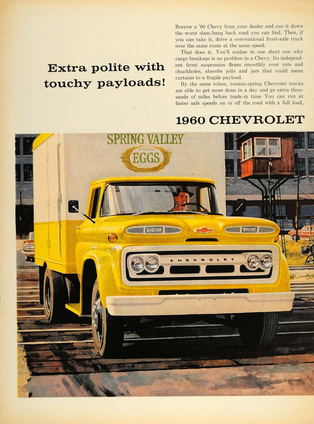 1960 Ad Chevrolet Chevy Truck Torsion Rear Springs V8 - ORIGINAL MIX8