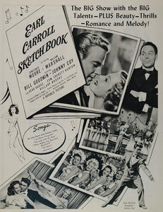 1946 Movie Ad Earl Carroll Sketchbook Constance Moore - ORIGINAL MOVIE2