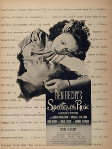 1946 Movie Ad Specter of the Rose Ben Hecht Republic - ORIGINAL MOVIE2