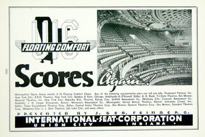 1936 Ad U-16 Theatre Seating Metropolitan Opera International Seat Co. MOVIE3