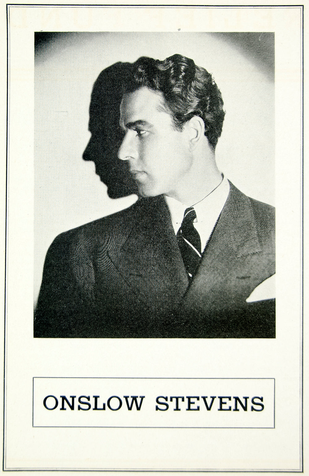 1936 Ad Onslow Stevens Actor Movie Film Stage Portrait Profile Hollywood MOVIE3