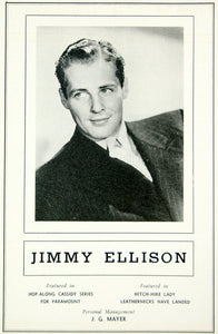 1936 Ad Jimmy Ellison Actor Movie Film Hopalong Cassidy Series Portrait MOVIE3