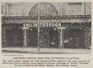 1922 Print Rialto Theatre Marquee San Antonio Texas - ORIGINAL HISTORIC MP1