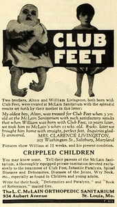 1923 Ad L C McLain Orthopedic Sanitarium Children with Disabilities Club MPR1