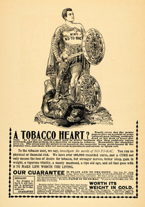 1895 Ad No-To-Bac Nicotine Treatment Sterling Remedy Co - ORIGINAL MUN1