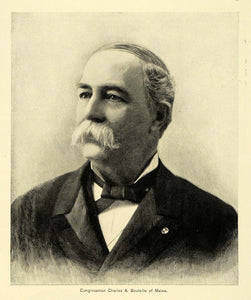 1895 Print US Congressman Maine Charles A Boutelle Portrait Politician MUN1