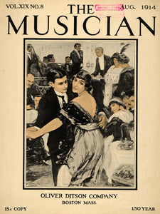 1914 Cover Musician Ditson Dinner Party Dancing Couple - ORIGINAL MUS1