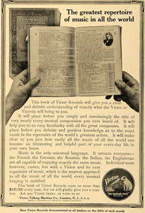 1914 Ad Victor Talking Machines Victrola Artist Booklet - ORIGINAL MUS1 - Period Paper