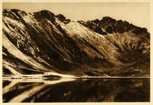 1925 Nevado de Toluca Mexico Hugo Brehme Photogravure - ORIGINAL MX1