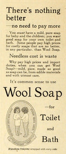 1914 Ad Wool Soap Toilet Bath Cleansing Sanitation Little Girls Cloth MX7