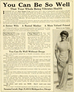 1913 Ad Susanna Cocroft Health Beauty Symmetrical Body Shaping Circulation MX7