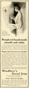 1913 Ad Woodbury Facial Soap Dry Skin Complexion Beauty Price Toiletries MX7