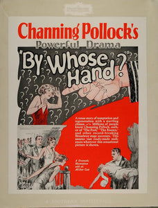 1927 Ad Silent Film By Whose Hand Lang Channing Pollock - ORIGINAL NC1