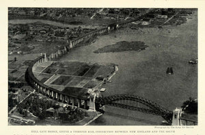 1923 Print Hell Gate Bridge Engineering East River Arch New York City NGM1