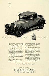 1926 Ad Antique 90 Degree V8 Cadillac Automobile Women Driver Frank Quail NGM1