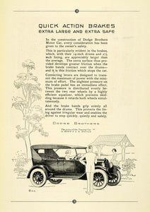1923 Ad Antique Dodge Touring Motor Car Automobile Specifications Price NGM1