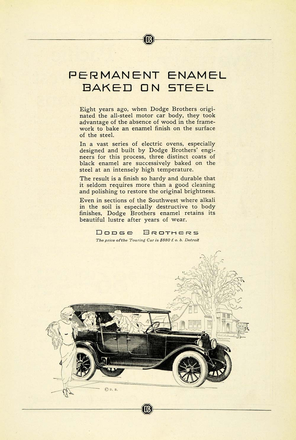 1923 Ad Antique Enclosed Dodge Automobile Convertible Touring Motor Car NGM1
