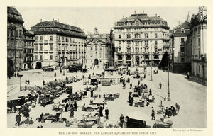 1923 Print AM-HOF Chruch Market Square City Vienna Civic Arsenal Fire NGM1