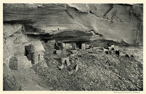 1925 Print Mummy Cave Canyon del Muerto Edwin Wisherd Archaeology Cliff NGM1