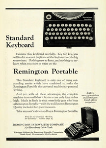 1923 Ad Remington Portable Keyboard Typewriter Broadway Typist Pricing NGM1
