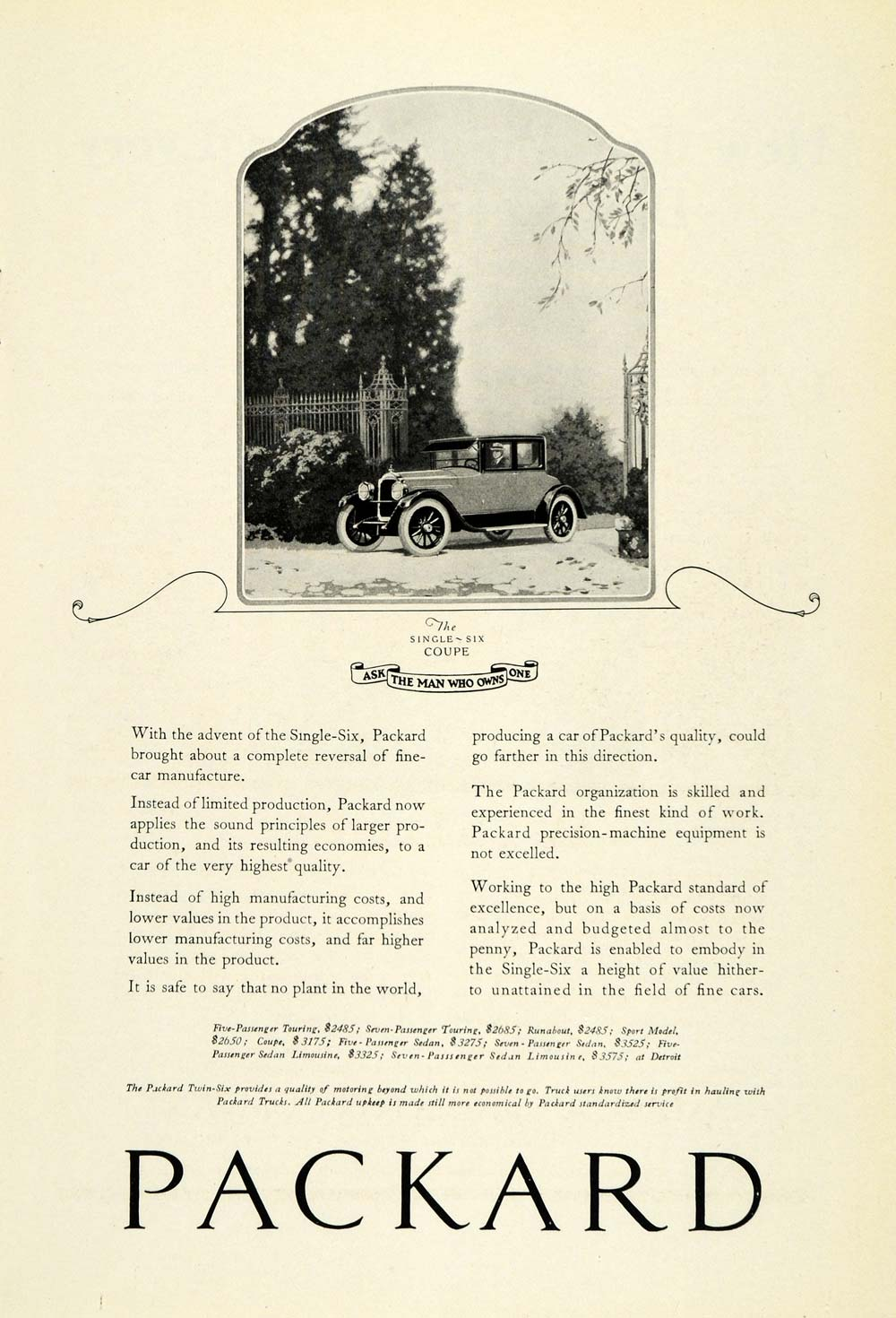 Packard Period Paper Wiring Diagrams Of 1958 Studebaker And Golden Hawk 1922 Ad Single Six Coupe Automobile Vintage Motor Vehicle Detroit Ngm1