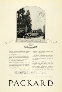 1922 Ad Packard Single Six Coupe Automobile Vintage Motor Vehicle Detroit NGM1