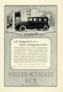 1926 Ad Willys-Knight Six Automobile Chauffeur Ladies Vintage Car Motor NGM1