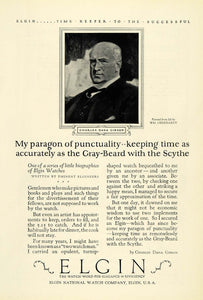 1925 Ad Elgin National Watch Co Charles Dana Gibson Illinois William NGM1