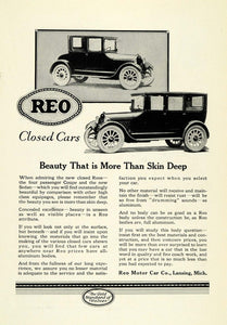 1922 Ad Lansing Closed Automobile Four Passenger Coupe Sedan Reo Motor Car NGM1