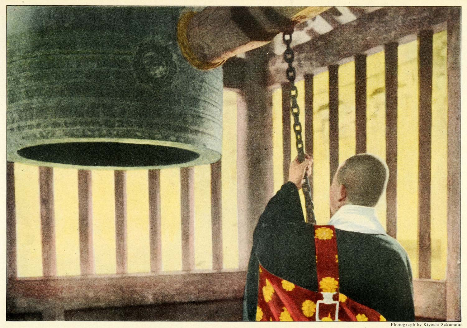 1921 Print Japan Buddhism Religion Occidental Bell Buddhist Sakamoto NGM2