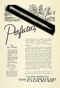 1924 Ad Wahl Eversharp Fountain Ball Point Pens Cavemen Writing Tools NGM2