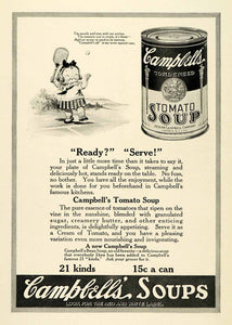 1921 Ad Campbell's Soup Tomato Child Tennis Racquet Camden New Jersey NGM2