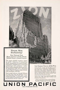 1927 Ad Zion Union Pacific Overland Foster Horse National Park Railroad NGM3