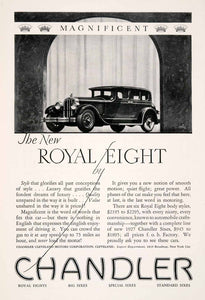 1927 Ad Chandler Royal Eight Car Vehicle Transportation Cleveland Ohio NGM3