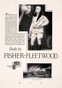 1928 Ad Fisher Fleetwood Transport La Salle Chassis Car McClelland Barclay NGM3