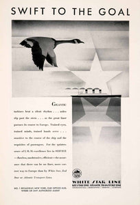1929 Ad White Red Star Atlantic Transport Cruise European Vacation Tourism NGM3