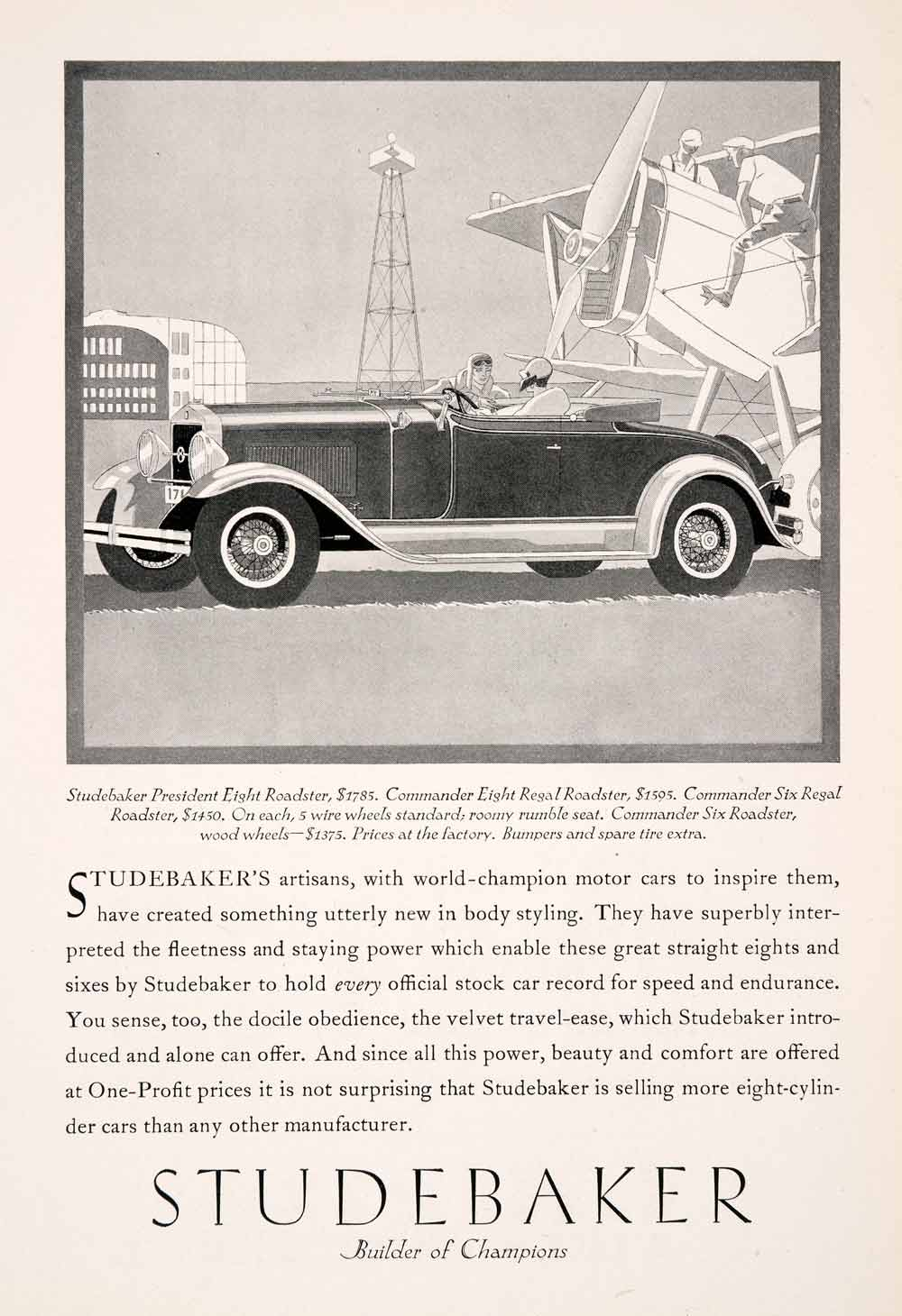 Vintage Advertising Art Tagged Studebaker Period Paper Wiring Diagram For 1952 Champion And Commander 1929 Ad Antique President Eight Roadster Convertible Private Ngm3
