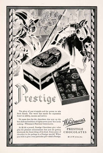 1929 Ad Whitmans Prestige Chocolate Box Candy Confections Sweets Dessert NGM3