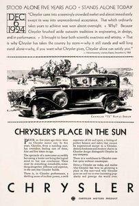 1929 Ad Antique Enclosed Chrysler 75 Royal Sedan Automobile American Motor NGM3