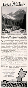 1927 Ad Tacoma Washington Chamber Commerce Rainier National Park Travel NGM3