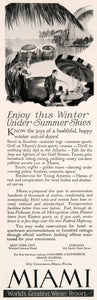 1927 Ad Miami Florida Chamber Commerce Travel Tourism Winter Vacation Beach NGM3