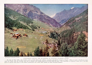 1932 Color Print Oetztal Alpine Valley Tyrol Austria Natural History NGM4