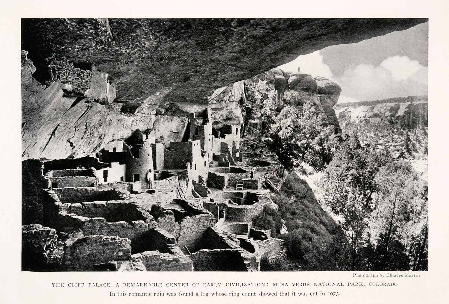 1929 Halftone Print Mesa Verde National Park Colorado Cliff Dwellers NGM4