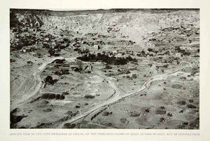 1919 Print Tatlar Village Azerbaijan View Cliff Face Dwelling Historical NGM5