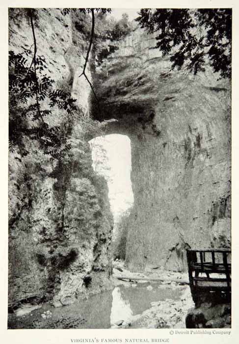 1920 Print Old Dominion Natural Bridge Landscape Virginia Historical Image NGM5